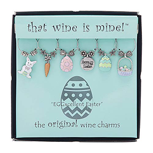 Wine Things EGGxellent Easter Painted Wine Charms Fits neatly around stem Multicolor