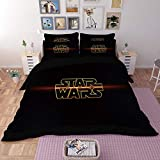 Paixide Star Wars Bedding Cover Sets Soft Microfiber with Zipper Closure-3D Printed, 3 Pieces, 1 Duvet Cover 2 Pillowcases, Best Gift for Kids, Queen