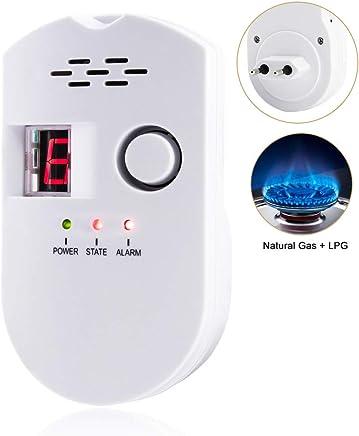 Detector de Alarma de Gas - Detector de GLP/Gas Natural/Gas Ciudad,