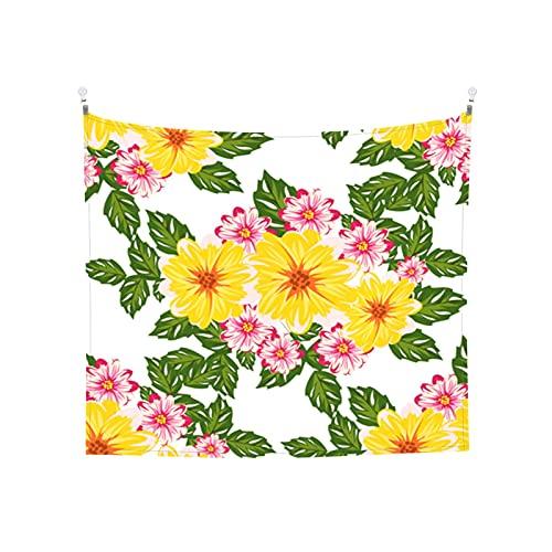 Badinton Tapiz de Pared,Patrón de Flor Transparente de Vector para Fondos de Textiles de Tarjetas *Tapestry(Colgante de Pared) Decoración de Pared del hogar para Dormitorio Sala de Estar 203 x 152cm