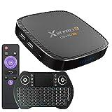 TV Box Android 10.0 4GB RAM 32GB ROM Set Top Box Smart TV Box Allwinner H616 1080P Ultra HD 4K 6K HDR WiFi 2.4G 5.8GHz BT 5.0 Android TV Box con Mini Tastiera Senza Fili Retro Illuminata