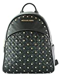 MICHAEL KORS Abbey Medium Studded Backpack Pebbled Leather (Black)