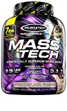 Mass Gainer Whey Protein Powder + Creatine | MuscleTech Mass-Tech Elite | Muscle Builder Whey Protein Powder | Max-Protein Weight Gainer for Men & Women | Cookies & Cream, 7 lbs