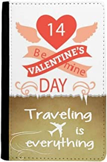 Red Valentine's Day Be Mine Traveling quato Passport Holder Travel Wallet Cover Case Card Purse