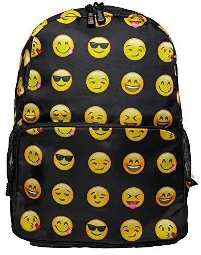 GFM® Emoji-Rucksack für Jungen und Mädchen, für die Schule (SMLY01)