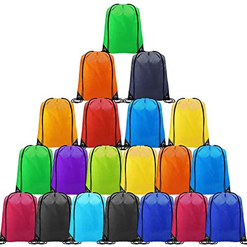 CHEPULA Drawstring Backpack Bags Cinch Sacks String Portable Backpack DIY for School,Home,Gym,Travel,Sports&Storage 20Pcs