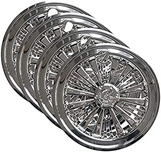 "3G Set (4) 8"" Chrome Eagle Wheel Covers for Club Car, EZGO, Yamaha, Golf Carts"