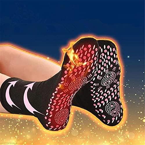 SHONTON Beheizte Socken, Turmalin Magnetsocken, Selbstheizende Winter Warme Socken Fußwärmer für Damen Herren, Massage, Fußheizung, Anti-Müdigkeit,Gesundheitssocken,Outdoor Sport,Camping