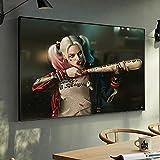 AQgyuh Puzzle 1000 Piezas Película de imágenes artísticas de Harley Quinn Loca Puzzle 1000 Piezas paisajes Gran Ocio vacacional, Juegos interactivos familiares50x75cm(20x30inch)