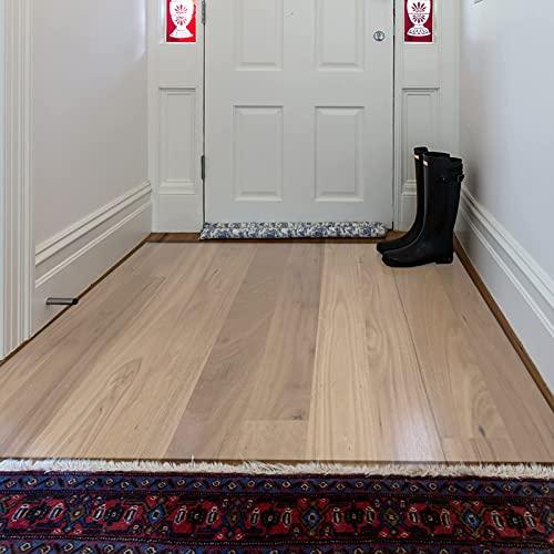 JJYY Protector de Piso Transparente para Madera Dura, Protector de plástico Antideslizante para alfombras/tapete para alfombras de Pila Baja Estera Protectora de Alfombra Cortada a Medida, 6 pi