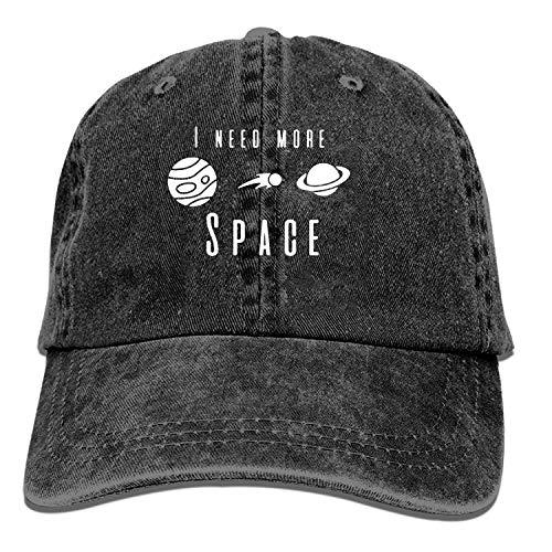 mn Black Baseball Cap-I Need More Space Trucker Hat Washed Cotton Vintage Adjustable...