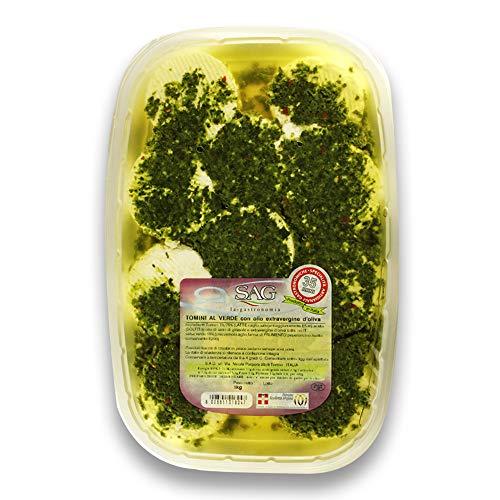 Tomini al verde con olio extravergine d'oliva (EVO) SAG – 4 pz. 1 kg