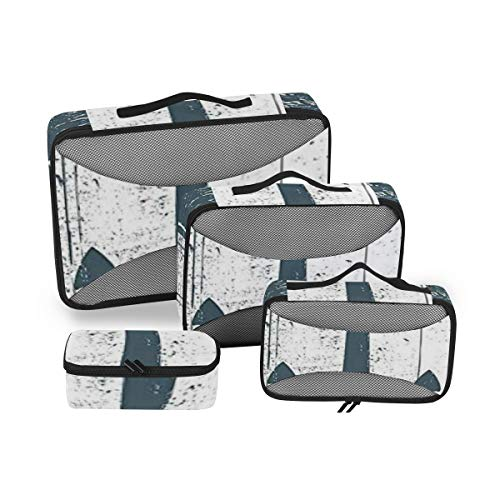 Anchor 4pcs Large Travel Toiletry Bag for Women Big Wash Bags Hair Dryer Case Multi-Use Toiletries Kit Cosmetics Makeup Bathroom Organizer Suitcase Luggage