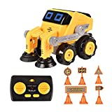 Remote Control Car for Boys, BIBIELF Radio Control Toys for Kid 360° Standing Rotation with Music, 6 Road Signs, Kids Toy Cars for Boys & Girls Birthday, Clean Car