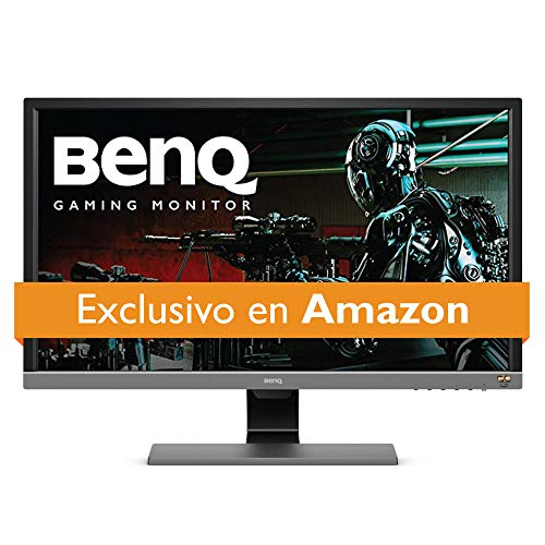 Monitor BenQ Gamer 28 pulgadas 4K HDR  (EL2870U), Tiempo de respuesta 1ms, UHD, Panel TN, Free-Sync, Eye-Care, Anti reflejante, Brightness Intelligence Plus, HDMI, DP, Bocinas integradas
