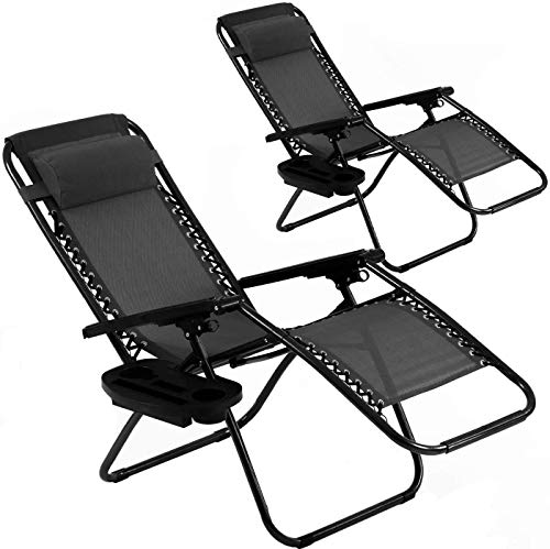 Zero Gravity Chair Patio Chair Lounge Chair Chaise 2 Pack Outdoor Folding...