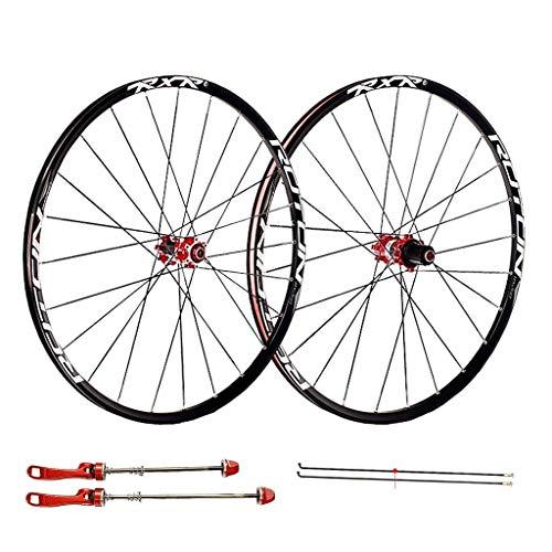 Ruedas de ciclismo para 26 27.5 29 pulgadas Juego de ruedas de bicicleta de montaña, Aleación de doble pared Freno de disco de liberación rápida 7 8 9 10 Juego de ruedas de bicicleta de 11 velocidades