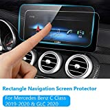 Navigation Screen Protector for Mercedes Benz C Class 2019-2020 and GLC Class 2020, TTCR-II Tempered Glass...
