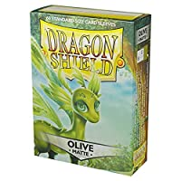 Dragon Shield マット60枚 オリーブグリーン 標準サイズ カードスリーブ 個別パック