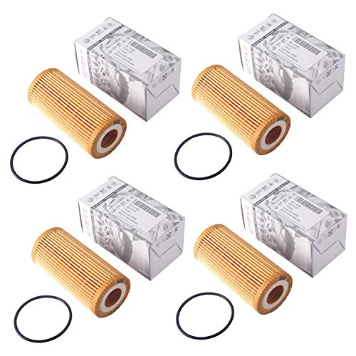 4 Pack 06L-115-562 HU6002z Engine Oil Filter ForFit for VW Passat Audi A3 Cabriolet Golf R Beetle 1.8T VW Golf 1.8 TSI 2016 VW GTI 2014 1.8T TSI Jetta