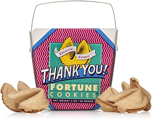 Thank You Gift Fortune Cookies In A Gift Box – 8 Pieces Traditional Vanilla Flavor Individually Wrapped – Kosher Certified Gourmet Gift