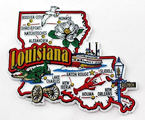 Texas State Map-Magnete per frigorifero, da collezione, motivo: bandiera inglese