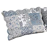 Collections Etc Gorgeous Multi-Colored Alice Floral Patchwork Standard Size Pillow Sham