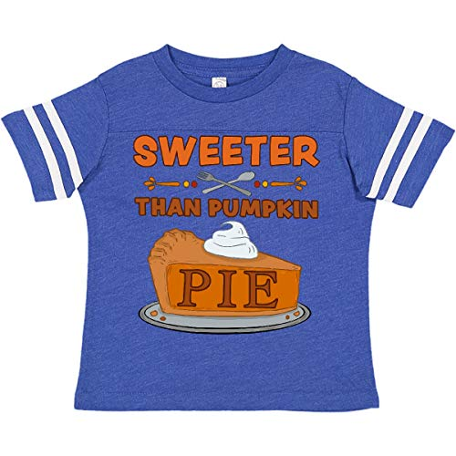 inktastic Thanksgiving Sweeter Toddler T-Shirt 2T Football Blue and White 379d9