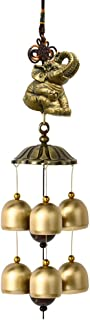 In/Outdoors Wind Chimes Vintage Metal Copper Wind Chime Hanging Door Decoration Pendant Creative Home Balcony Town House Feng Shui Lucky Bell Home Garden Wind Chimes (Color : Elephant, Size : 46cm)