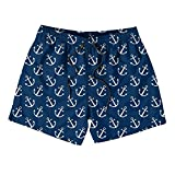 Kids Navy Anchors Pattern Board Shorts Quick Dry Casual Surfing Swim Shorts for Boys or Girls