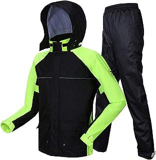 RYY Raincoats Rain Suit (Rain Jacket and Rain Pants Set), Rainwear Split Adult Raincoat Rain Pants Thickening Windproof Wa...