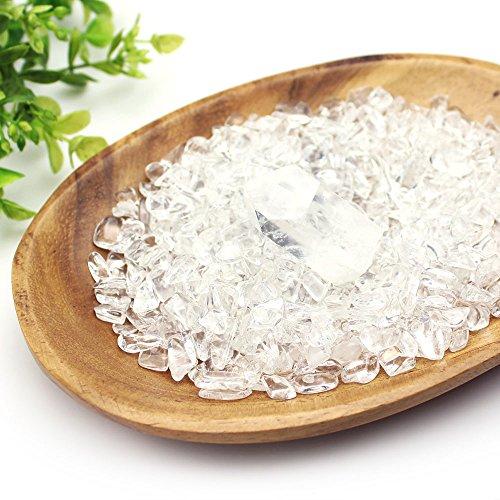 【すぐに使える浄化3点セット】 ブラジル産水晶さざれ180g + 水晶ポイント原石 + 木皿 浄化セット