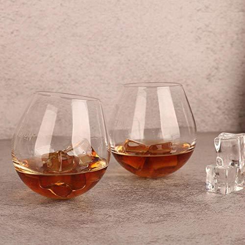 BWM Whiskyglas, Wassertropfenform, für Likör, Whisky, Wein, mit Logo, 280ml