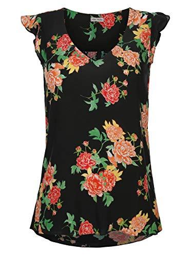 Alba Moda Tunika mit Blumendruck schwarz-Druck