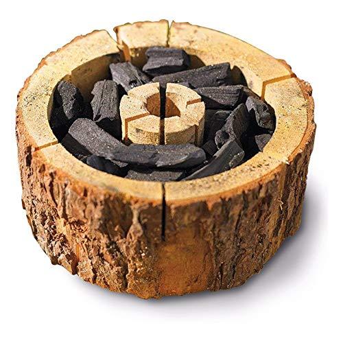 Le barbecue jetable le plus cool pour tous les temps // 100 % bio // EcoGrill // Taille XXL entre 20 cm et 25 cm de diamètre.