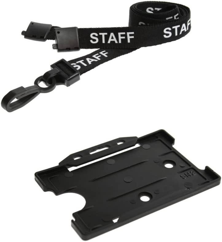 ID Card It Black Staff Free Max 73% OFF shipping New and Hold Strap Neck Lanyard