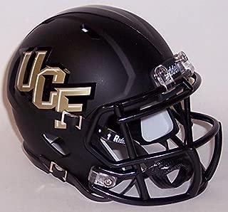 UCF Central Florida Knights Black Matte Finish Riddell Speed Mini Football Helmet - New in Riddell Box