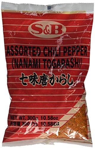 S&B Würzpulver mit Chili - Authentisches japanisches Togarashi Würzpulver zum Marinieren von Fisch & Fleisch - 1 x 300 g