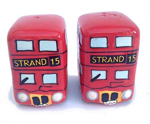 London Bus Cruet Set Cruet Sel Et Poivre Céramique de haute qualité Tout neuf et en boîte