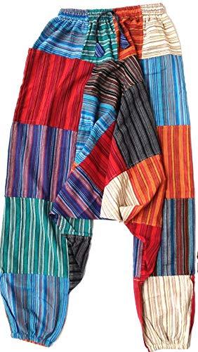Sin marca Pantalones Bombacho Pantalones Hippie -02