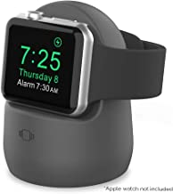AhaStyle Silicone Stand Dock for Apple Watch Series 4 (2018)/Series 3/Series 2/Series 1,Support Night Stand Model【Adapters NOT Included】(Dark Gray)