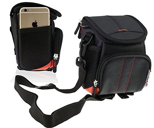 Navitech Schwarze Digital Kamera Tasche Abdeckung für den Panasonic LUMIX DMC-TZ61EG-K Traveler Zoom Camera