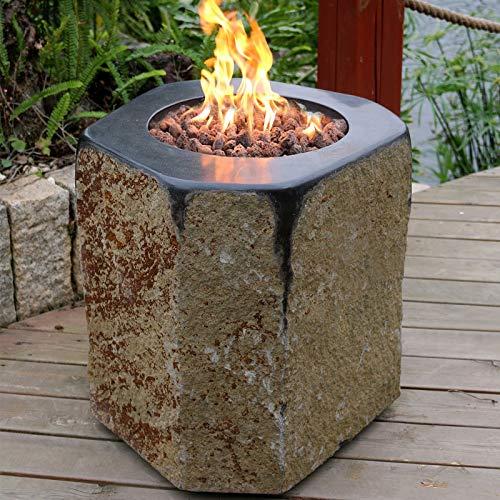 Modeno Feuerstelle Derby aus Basalt Naturstein schwarz/braun