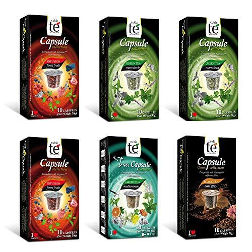 CUIDA TÉ - Té Cápsulas Nespresso, Compatibles con Máquin