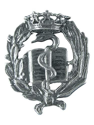 Alylosilver Insignia Profesional de Medicina Pin para Hombre Mujer en Plata 925 con Caja para Regalo.