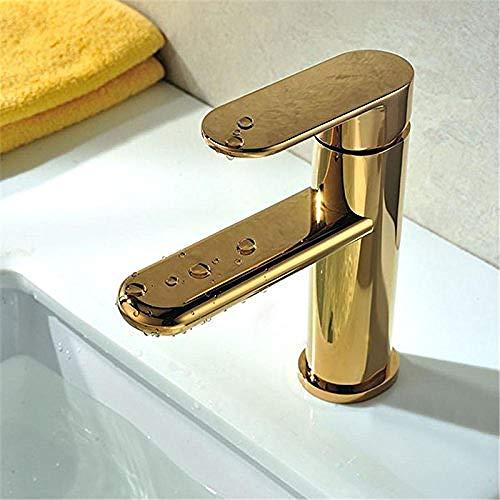 Rubinetto retrò dorato girevole bagno lavello da cucina rubinetto termostatico nobile come un sogno