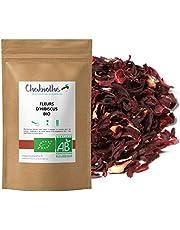 BIO Hibiscusbloesem gesneden thee 200 g - hibiscusbloem, bessap, karkade