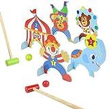 yoptote Giochi Sportivi Croquet Bambini, Minigolf da Casa Birilli Bambini Giochi in Legno per Bambini 3 Anni, Mini Giochi da Tavolo Ragazzi Idee Regalo per Ragazzo di 3 4 5 Anni