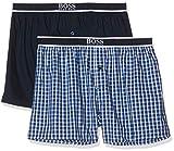 BOSS Boxer Shorts Exposed Waistband Ensemble De Pyjama, Bleu (Turquoise/Aqua 440), X-Large (Lot de 2) Homme
