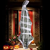 UFUNGA 72 inch Cocoon Corpse Decoration - Halloween Decorations Hanging Ghost - Scary Home Decor for Yard Outdoor Indoor Party Haunted House (Cocoon Corpse)